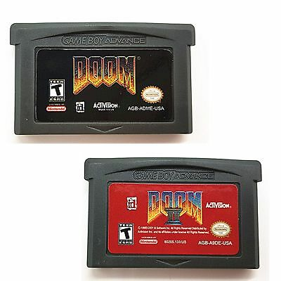 Doom I & II Nintendo GBA Video Game Cartridge Console Card English Language Ver.