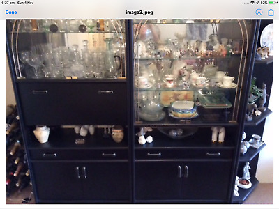 Wall Unit - Classy Black Timber, Built in Bar, Great Condition BARGAIN PRICE