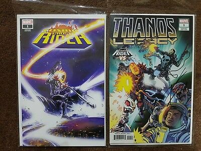Thanos Legacy Variant SIGNED D. Cates & Cosmic Ghost Rider #1 C. CRAIN variant