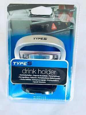 2 X New Silver & Black In Car Drinks Holder - Easy Fit To Air Vents