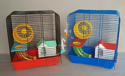 Hamster Mouse Cage Pet Cages With Tube House Wheel Bottle Mice Rodents Animal