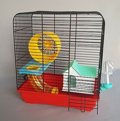 Hamster Cage Transporter Pet Animal Cages Tube Wheel Home Bottle Gerbil Mouse
