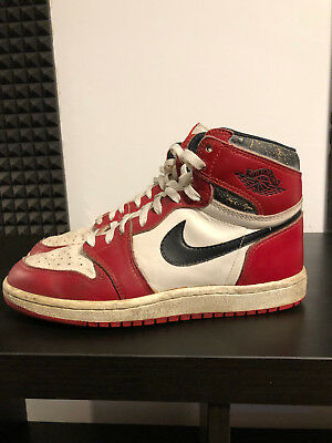 reputable site 70701 49f6e 1985 - ORIGINAL OG - Nike Air Jordan 1 I - Chicago - weiß rot schwarz - Bred