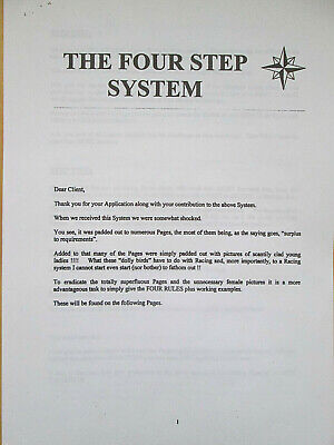 The Four (4) Step Horse Racing System