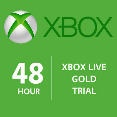XBOX LIVE 48 Hour GOLD Trial Membership Digital Code Card XBOX-360