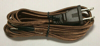 Parallel Cord 18//2 SPT-1 8 ft Brown - Rayon Antique Wire