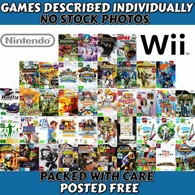 Nintendo Wii ✨ YOUR CHOICE OF GAMES ✨ Described Individually 22/03 Some Sealed