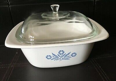 Corning Ware 5 Qt. Blue Cornflower Dutch Oven P-34-B With Lid Made In USA