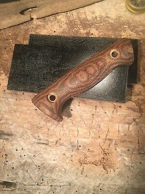"Snakeskin Python Canvas MICARTA KNIFE HANDLE MATERIAL  2X5 3/8"" FREE SHIPPING"