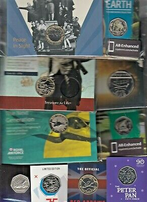 £2 Coin Brilliant Uncirculated RAF, Jane Austen & WW1 Air Battle