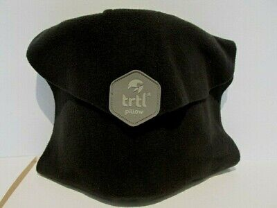 Trtl Pillow Scientifically Proven Super Soft Neck Support Travel Black Packable
