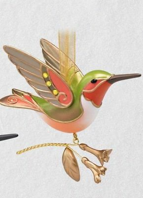 Hallmark 2018 Hummingbird Surprise MIB Keepsake Ornament- GOLDEN Mystery Repaint