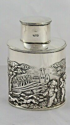 FANTASTIC VICTORIAN SOLID STERLING SILVER TEA CADDY CHESTER 1899 119 g