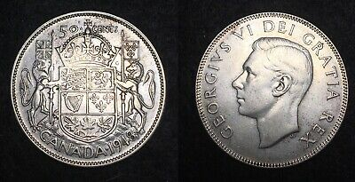 1948 Canada 50 Cents Half Dollar Rare Date Low Mintage