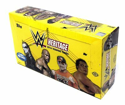 2016 Topps Heritage Factory Sealed WWE Wrestling Hobby Box