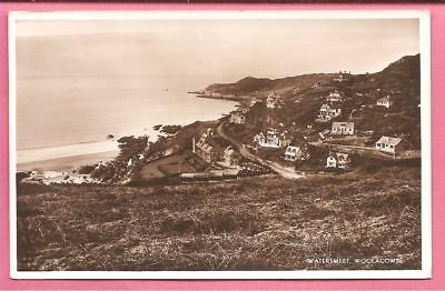 Watersmeet, Woolacombe, Devon postcard. Real Photo. M and L.