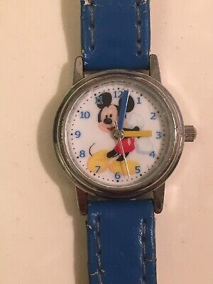 64a6c242873d Walt Disney Mickey Mouse Watch M35001 Blue Early 90s - RARE!