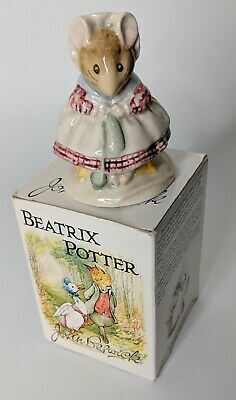 The World of Beatrix Potter Figure in Tin Birders Fine Art, Mouse in a Shoe
