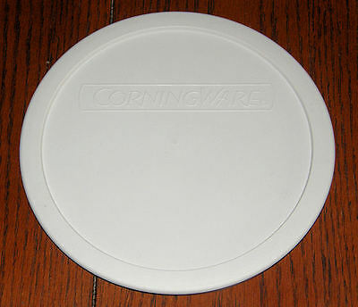 1 NEW Corning French White Round Plastic Lid F-5-PC fits 1.5 Qt /1.6L dish  MINT
