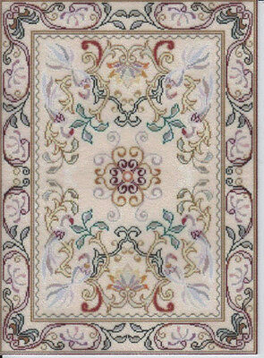 """1:12 or 1:24 Scale Dollhouse Area Rug 0001345 - approximately 4-1/4 x 5-5/8"""""""