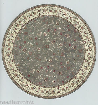 """1:12 Scale Dollhouse Round Area Rug 0001010 - approximately 7 7/8"""""""
