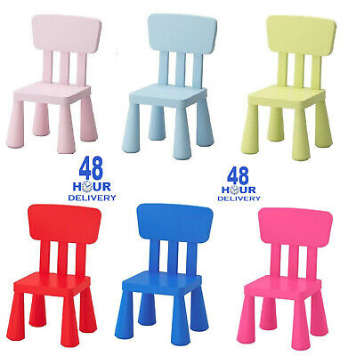 Ikea Mammut Kids Children's chair Plastic Toddlers Furniture Indoor,Outdoor New