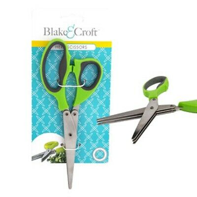 Herb Scissors - Heavy Duty 3 Blade Kitchen Shears with comfort Handles 8""