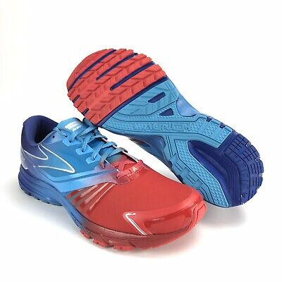 79f67686e0595 Brooks Men s Launch 2 High Risk Red Malibu Blue Surf Running Shoes Size 12 D
