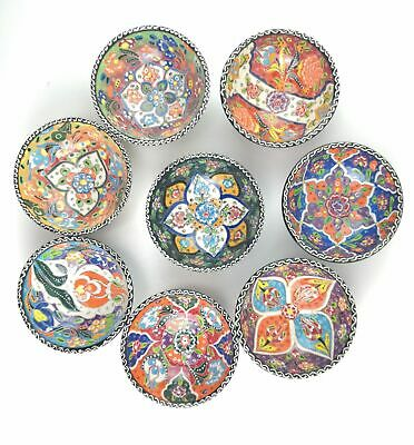 Traditional Turkish Multicolour Hand Painted Bowl - Small - Snack, Ring, 10 c...