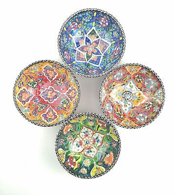 Traditional Turkish Multicolour Hand Painted Bowl - Small - Snack, Ring, 15 c...