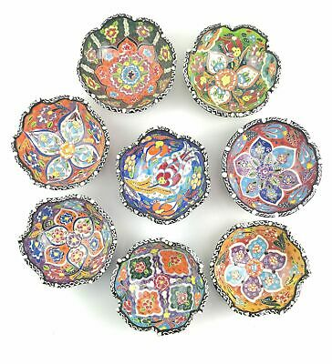 Traditional Turkish Multicolour Hand Painted Bowl - Small - 10 cm Mandala Dish