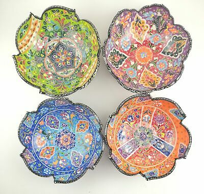 Traditional Turkish Multicolour Hand Painted Bowl - 20 cm Mandala Dish