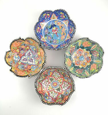 Traditional Turkish Multicolour Hand Painted Bowl - Small - 15 cm Mandala Dish