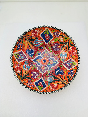Traditional Turkish Multicolour Hand Painted Bowl - Small - 20 cm Mandala Dish