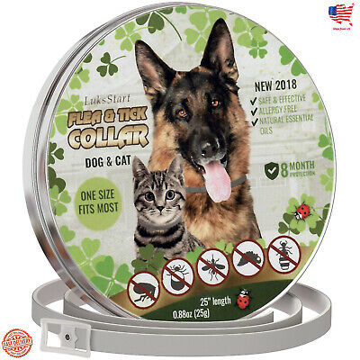 Flea and Tick Collar - 8 month prevention for Dogs and Cats One Size Fits All
