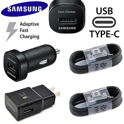 Original Samsung Galaxy Note8 S8 S9 S10+ Fast Car Wall Charger 4FT Type-C Cable