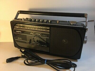 Vintage Sanyo M 1740F Radio & Cassette Recorder Compact - Working Perfect