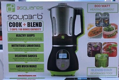 New – 3 Squares Soup3Rb Cook And Blend All In One Blender 7 Cups / 60 Ounce- Nib