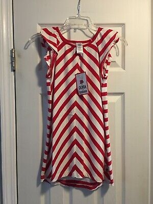 NWT Gymboree Olivia Dress Red White Stripe Girls Size 7
