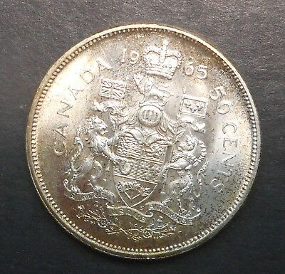 Canada  1962 QEII   50 cent Silver Coin NICE  UNC