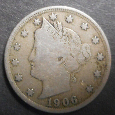 United States US 1906 Liberty Nickel  Coin Nice