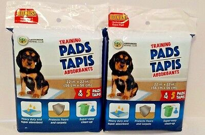 2 Pks Pet Dog Puppy Disposable Training Pee Wee Pad Heavy Duty Absorbent 10 Pads