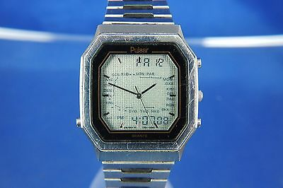 Vintage Retro Pulsar / Seiko World Timer LCD Digital Watch 1980s Very Rare