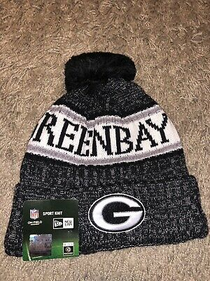ba0a1b065db New Era NFL Green Bay Packers Bobble 2018 2019 Sport Knit Sideline Beanie  Hat