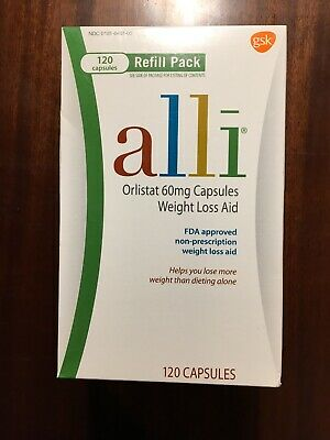 ALLI Orlistat 60mg. 120 Capsules. Weight Loss Aid New Sealed Expires 2020~FRESH