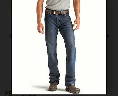 8dd08ef4518 Ariat Men's FR Flame Resistant Low Rise Boot Cut Jeans 10012555 Size 38/30  SHALE