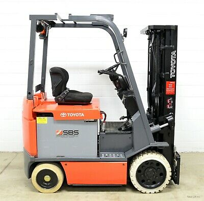 Clean! Toyota 7Fbcu25 5,000 Lb 36V Electric Forklift 4 Way Clamp Ready