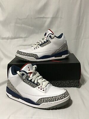 big sale 7ea27 753e8 Rare Nike Air Jordan 3 Retro Og True Blue Iii White 854262-106 Sz 8.5