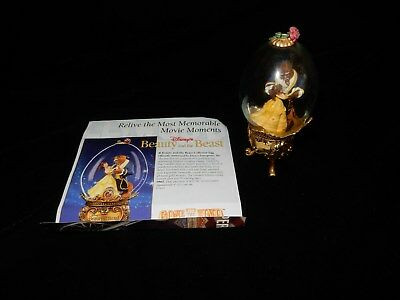 Franklin  Mint Disney Beauty And The Beast  Collector Egg