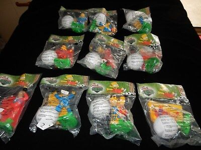 2002 Burger King Full Set Of 10 The Simpsons Springfield Soccer Figurines New